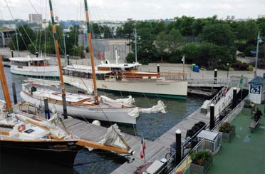 Classic Harbor Line New York Location with Schooners Adirondack and America 2.0 and Yacht Manhattan and Kingston