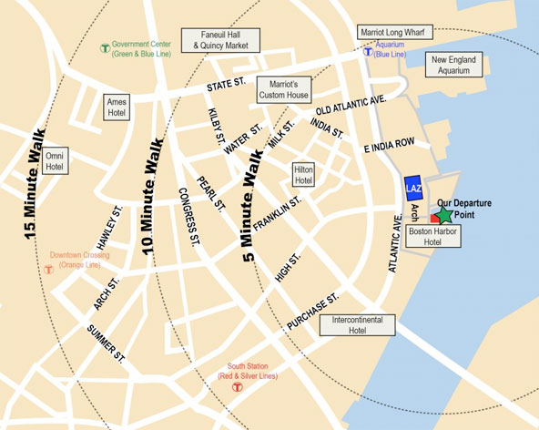 Map to Rowes Wharf