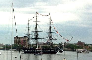Boston USS Constitution Turnaround Sail