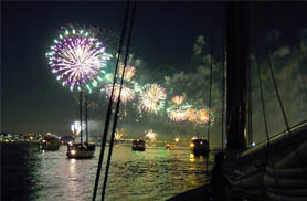 Winthrope Fireworks Cruise with Classic Harbor Line