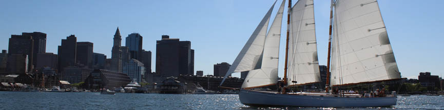 Boston Harbor Sailing on Schooner Adirondack III